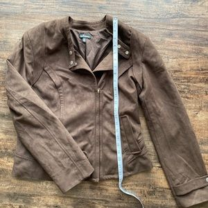 Le Chateau cropped suede jacket